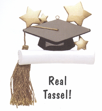 "Christmas Ornament - ""Graduate - Hat & Diploma"""
