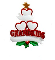"Christmas Ornament - ""Grand Kids Heart Ornament -3"""