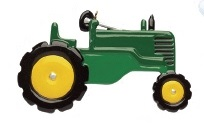"Christmas Ornament - ""Green Tractor Ornament"""