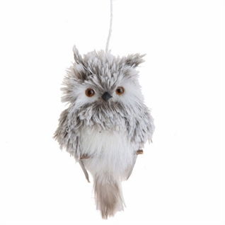 "Christmas Ornament - ""Grey Owl Ornament"""