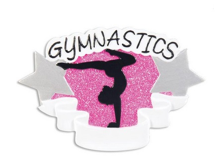 "Christmas Ornament - ""Gymnastics Ornament"""
