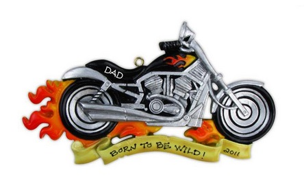 """Christmas Ornament - """"Harley Motorcycle Ornament"""""""