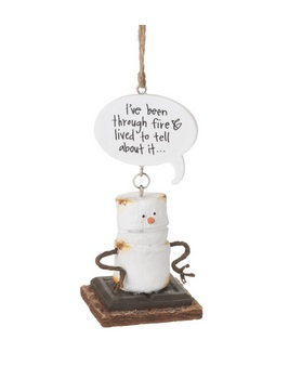 "Christmas Ornament - ""I've Been Through Fire Smore Ornament"""