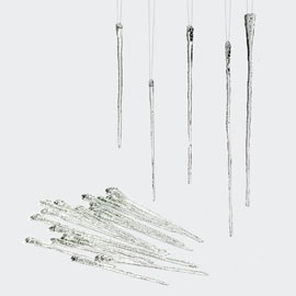"Christmas Ornament - ""Icicle Ornaments"" - 7/9/11 Inch - Set of 24"