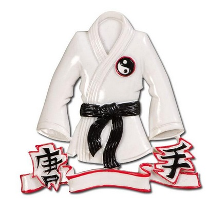 "Christmas Ornament - ""Karate Jacket Ornament"""