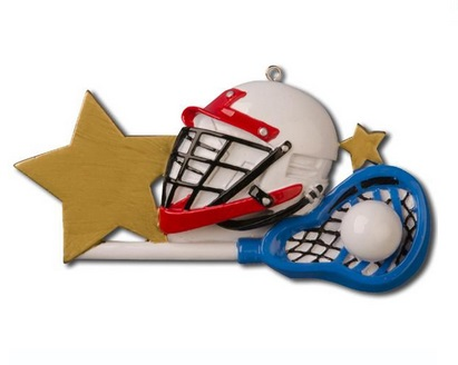 "Christmas Ornament - ""Lacrosse Helmet Ornament"""