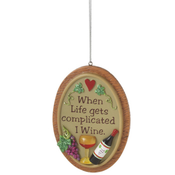 "Christmas Ornament - ""Life Is Complicated Ornament"""