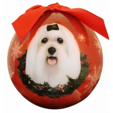 "Christmas Ornament - ""Maltese"""