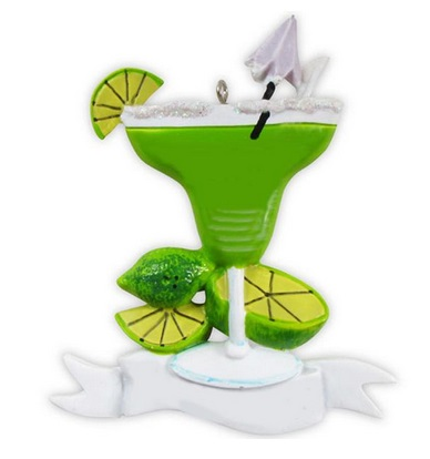 "Christmas Ornament - ""Margarita With Limes Ornament"""