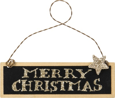 "Christmas Ornament - ""Merry Christmas Sign Ornament"""