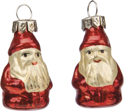 "Christmas Ornament - ""Miniature Santa Ornament Set"" - Set of 12"