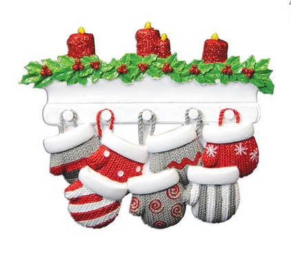 "Christmas Ornament - ""Mitten Family Ornament -7"""