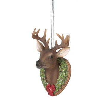 "Christmas Ornament - ""Mounted Deer Trophy Ornament"""