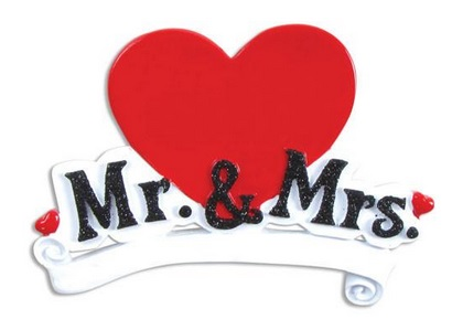 "Christmas Ornament - ""Mr. & Mrs. Ornament"""