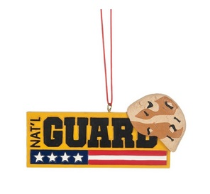 "Christmas Ornament - ""National Guard"""