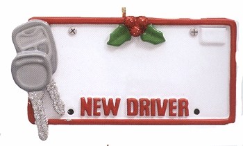 "Christmas Ornament  - ""New Driver"""
