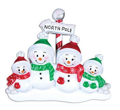 "Christmas Ornament - ""North Pole Family Ornament - 4"""