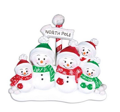 "Christmas Ornament - ""North Pole Family Ornament - 5"""
