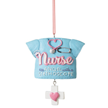 "Christmas Ornament - ""Nurse Shirt Ornament"""