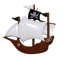 "Christmas Ornament - ""Pirate Ship Ornament"""