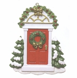 "Christmas Ornament - ""Red Door With Trim"""