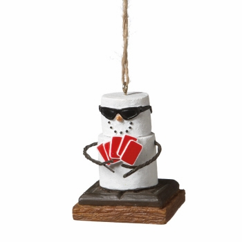"Christmas Ornament - ""S'mores Poker Ornament"""