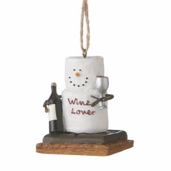 "Christmas Ornament - ""S'mores Wine Lover Ornament"""