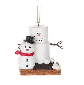 Christmas Ornament - S'mores With Snowman Ornament