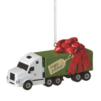 "Christmas Ornament - ""Semi Truck Ornament."""