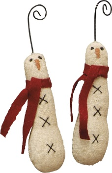 "Christmas Ornament - ""Skinny Snowman Ornaments"" - Set of 6"