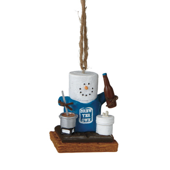 "Christmas Ornament - ""Smore Brew Beer Ornament"""