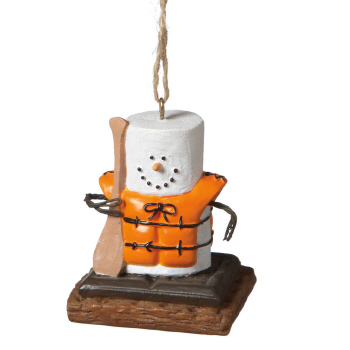 "Christmas Ornament - ""Smore Canoeing Ornament"""