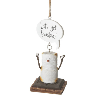 "Christmas Ornament - ""Smore - Let's Get Toasted Ornament"""