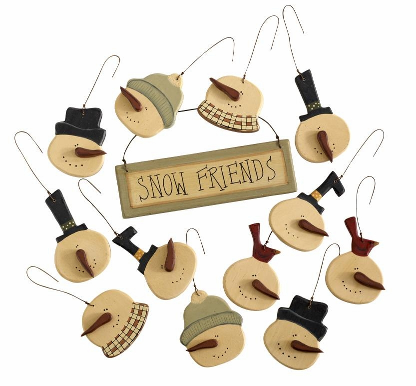 "Christmas Ornament - ""Snow Friends Ornaments"" - Set of 12"