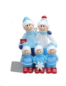 "Christmas Ornament - ""Snow Shovel Family Ornament"" - 5"