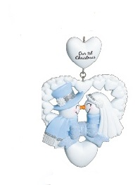 "Christmas Ornament - ""Snow Wedding Ornament"""