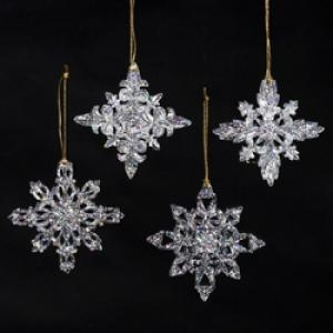 Christmas Ornament - Acrylic Snowflake Ornament - 3in