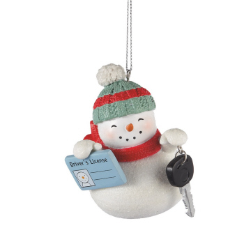 "Christmas Ornament - ""Snowman First Driver's License Ornament"""
