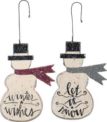 "Christmas Ornament - ""Snowman Ornaments"" - Set Of 2"