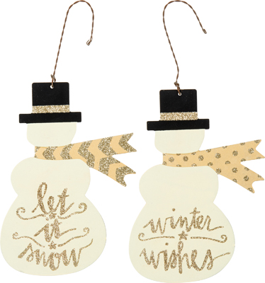 "Christmas Ornament - ""Snowman Ornaments"" Set Of 2"