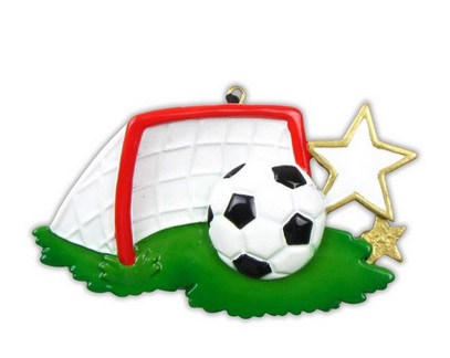 "Christmas Ornament - ""Soccer Ball And Net Ornament"""