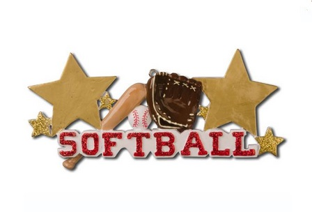 "Christmas Ornament - ""Softball Ornament"""