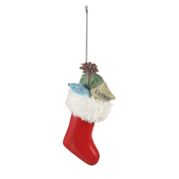 "Christmas Ornament - ""Stocking With Cat Gifts Ornament"""