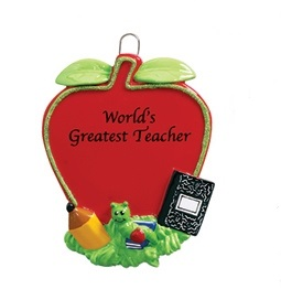 "Christmas Ornament - ""Teacher's Apple Ornament"""