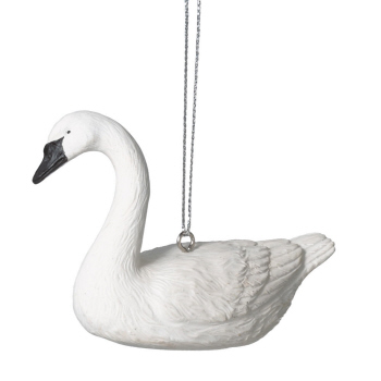 "Christmas Ornament - ""Trumpeter Swan Ornament"""