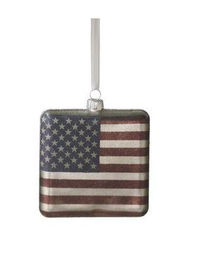 "Christmas Ornament - ""USA Flag"""