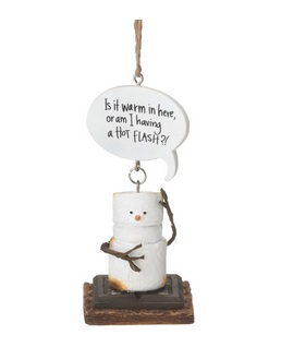 "Christmas Ornament - ""Warm Flash Smore Ornament"""