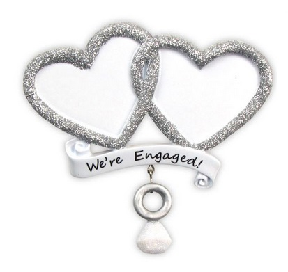 """Christmas Ornament - """"We're Engaged Ornament"""""""