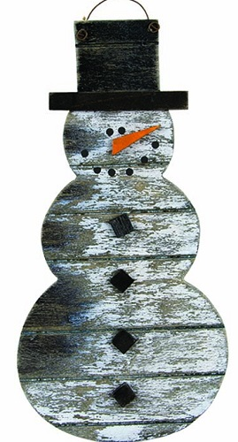 Christmas Ornament - Weathered Snowman Ornament