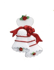 "Christmas Ornament - ""Wedding Bells Ornament"""